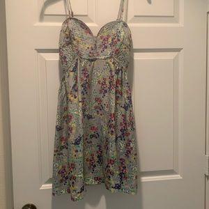 Parker Floral Silk Sundress